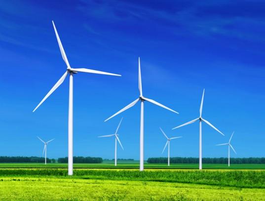 Wind turbines at power generation installation. Photo: Inhabitat.com