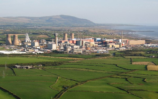 Sellafield-nuclear-fuel-recycling-plant, UK. Photo: Wikipedia.